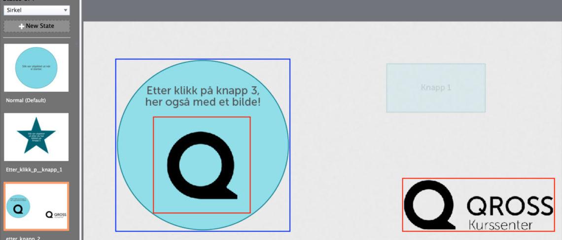 Object state, Adobe Captivate. Skjermbilde.