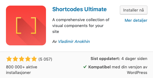 Shortcodes Ultimate plugin for WordPress