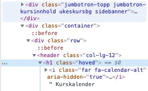 Kodevindu, Chrome. Skjermbilde.