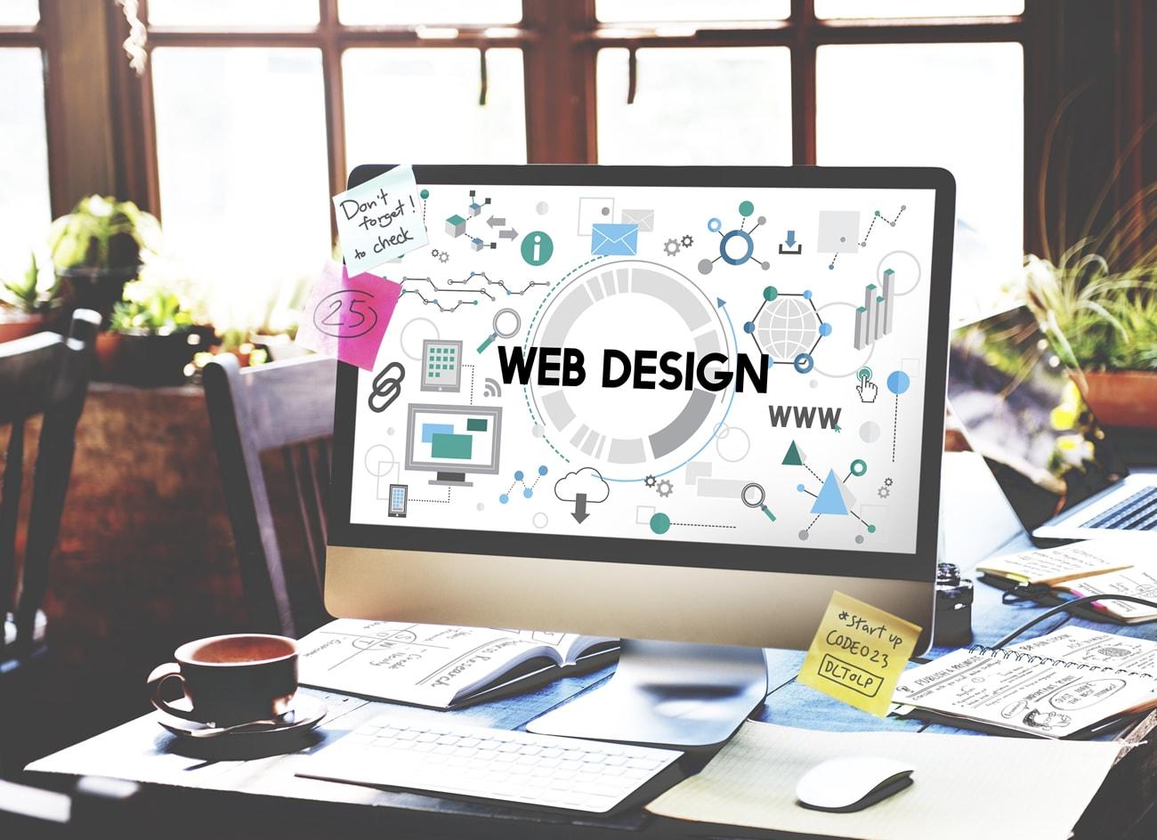 Webdesign. Illustrasjonsfoto.