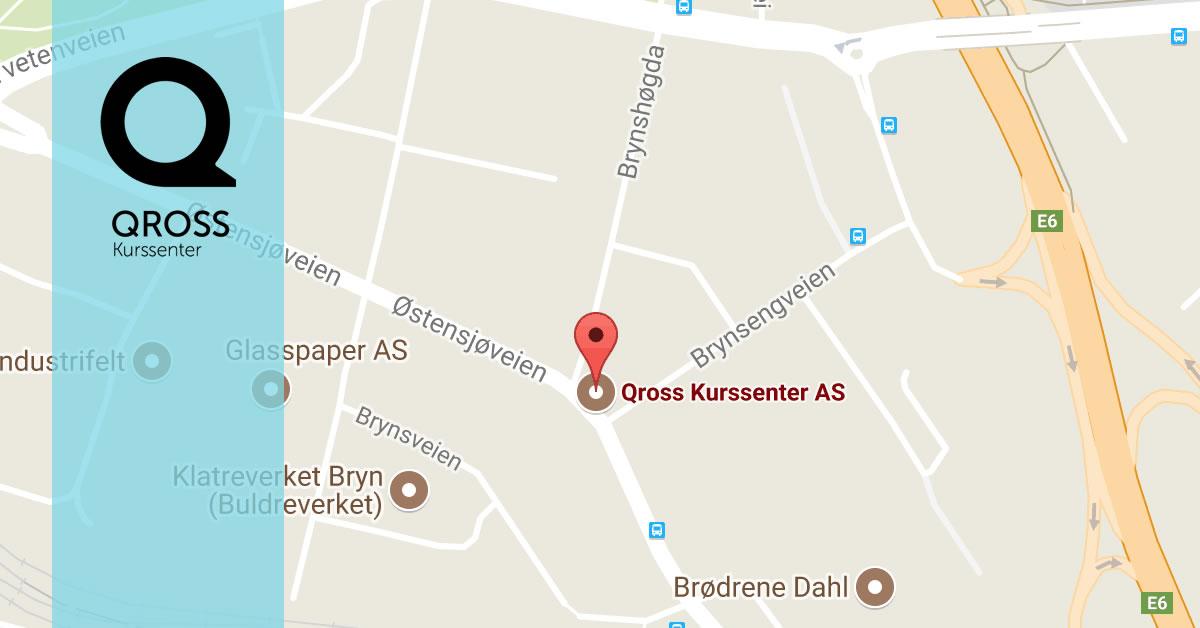 bryn stasjon kart Kart og veibeskrivelse   Qross Kurssenter AS bryn stasjon kart