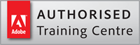 Adobe Authorised Training Centre. Logo.
